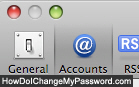 Access your email accounts settings in Mac Mail