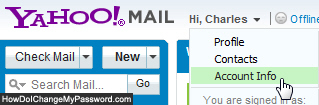 Access your Yahoo Mail account settings