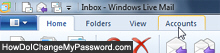 Access your email account properties in Windows Live Mail 2011