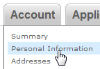 Access your personal account settings on eBay