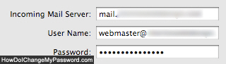Change email account password in Mac Mail