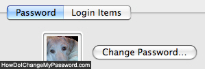 Change password on Apple Mac OS X computers
