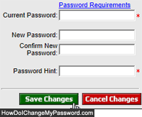 Change GoDaddy password and update password hint question