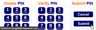 Change ING Direct PIN code and password and click Submit