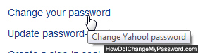 Change Yahoo Mail password for beta trial