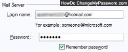 Change to a new password for this email address