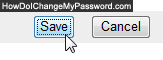 Click on Save to change password for Yahoo Mail Beta 2010 2011