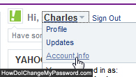 Edit your Yahoo account profile