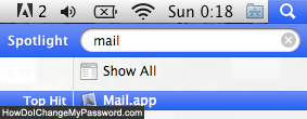 Launch Apple Mail in Mac OS X