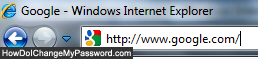 Load Google inside your web browser