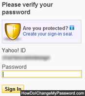 Verify your current Yahoo Mail Classic password